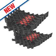 Redbacks KNPDRDLW20 Slide-In Protective Knee Pads