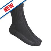 CAT Industrial Work Socks Black Size 6-11