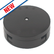 30A 3-Terminal Heavy Duty Junction Box Black