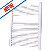 Flomasta Flat Ladder Towel Radiator White 700 x 600mm 372W 1269Btu