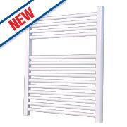 Flomasta Flat Ladder Towel Radiator White 700 x 600mm 372W 1269Btu