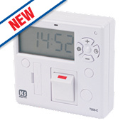 Greenbrook T205-SCR KingShield 7-Day Fused Digital Timer Spur Switch 230V