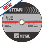 Titan Metal Grinding Discs 230 x 6 x 22.2mm Bore Pack of 3