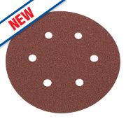 Flexovit Sanding Discs Punched 150mm 50 Grit Pack of 6