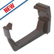 FloPlast RKS1 Square Line Fascia Brackets Brown 114mm Pack of 10