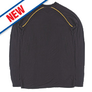 """Site Base Layer Top Black Extra Large 48"""" Chest"""