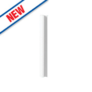 Matt White Profiled Kitchen Base Corner Conversion Kit 92 x 58 x 735mm