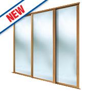 Spacepro 3 Door Framed Sliding Wardrobe Mirror Doors 2692 x 2260mm
