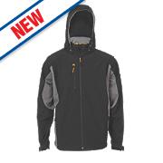 """JCB Stretton Soft Shell Jacket Black/Grey Large 41"""" Chest"""