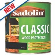 Sadolin Classic Exterior Woodstain Translucent Matt Ebony 1Ltr