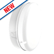 Luceco LED 3-Hour Emergency Lighting LED Bulkhead White 8W