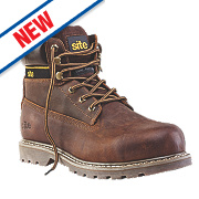Site Mudguard Safety Boots Brown Size 12