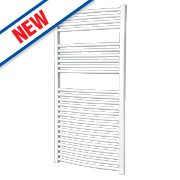 Flomasta Curved Ladder Towel Radiator White 1200 x 600mm 637W 2174Btu