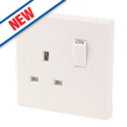 1-Gang 13A DP Switched Socket White