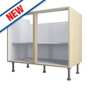 Oak Kitchen Base Cabinet 1000 x 570 x 880mm