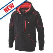 "Lee Cooper Hooded Fleece Jacket Black/Red X Large 65"""