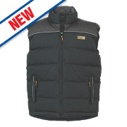 "JCB Sudbury Body Warmer Black Extra Large 44"""
