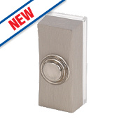 Byron Wired Bell Push Brushed Nickel 95 x 35mm