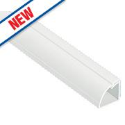 D-Line ¼ Round Floor Trunking White 22mm x 22mm x 2m