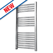 Flomasta Curved Towel Radiator Chrome 900 x 450mm 230W 784Btu