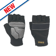 DeWalt Performance Fingerless Gloves Black/Grey Large
