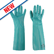 Ansell Solvex 37-185 Chemical-Resistant Nitrile Gloves Green Large