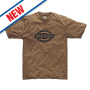 "Dickies Woodson T-Shirt Khaki Small 35-37"" Chest"