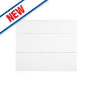 Slab Kitchens Handleless Pan Drawer Set 900 White Gloss 715 x 897mm