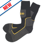 Site Comfort Work Socks 3 Pairs Black/Grey Black/Grey Size 7-11