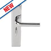 Urfic Westminster Bathroom Door Handles Pair Polished Nickel