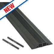 D-Line Multi Cable Cover Medium Duty Black 9m