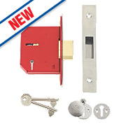 "Union 5-Lever Mortice Deadlock Stainless Steel 3"" / 81mm"