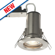 LAP Fire Rated Fixed LED Downlight IP20 Brushed Chrome 2.5W