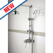 Bristan 1901 Thermostatic Concentric Mixer Shower Built-In/Exposed Chrome