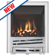 Focal Point Horizon Chrome Rotary Control Gas Inset High Efficiency Fire