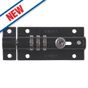 Squire Die-Cast Steel Combination Locking Bolt Black 92mm