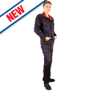 """Dickies Redhawk Ladies Zip Front Coverall Navy Size 14 37"""" Chest 30"""" L"""