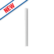 Gloss White Handleless Kitchen L Corner Base Fillet 54 x 54 x 735mm