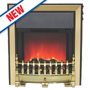 Be Modern Fazer Traditional Electric Inset Fire Brass Finish 2kW