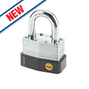 Yale Laminated Steel Open Shackle Padlock 54mm