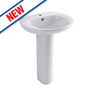 Grove Full Pedestal Basin 1 Tap Hole 570mm