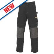 "JCB Cheadle Work Trousers Black 30"" W 32"" L"