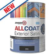 Zinsser All Coat Exterior Paint Black 1Ltr