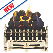 Focal Point Blenheim Full Depth Gas Fire Brass Inset 6.8kW
