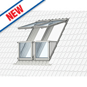 Velux Cabrio Double Roof Balcony & Tile Flashing Clear 1980 x 2520mm