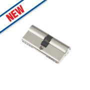 Century 5-Pin Euro Double Cylinder Lock 35-35 (70mm) Nickel