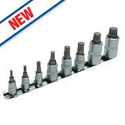 Laser Spline Drill Bit Set 8Pcs