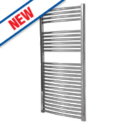 Flomasta Curved Towel Radiator Chrome 1200 x 600mm 419W 1430Btu