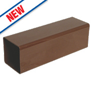 FloPlast Square Downpipe 65mm x 2.5m Brown Pack of 6