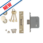 "Smith & Locke Easi-T BS 5-Lever Mortice Deadlock Stainless Brass 2½""/64mm"